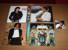 lotto michael jackson - 4 lp 33 giri + 1 cd-dvd